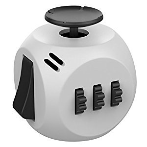 Fidget Cube, Helect New Generation 3.0 Fidget Cube Toy Relieves Stress and Anxiety with Portable Design for Work, Class and Home (Grey/Black)