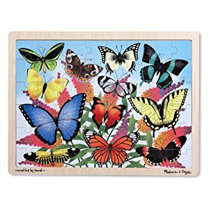 Melissa & Doug Butterfly Garden Wooden Jigsaw Puzzle With Storage Tray (48 pcs)