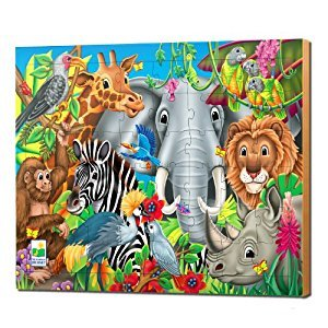 The Learning Journey 48 Piece Lift and Discover Jigsaw Puzzle-Animals of The World