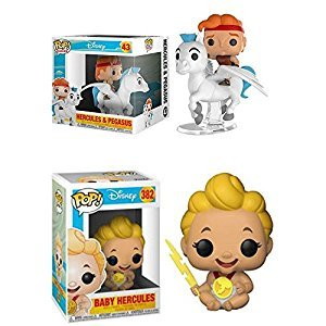 Funko POP! Hercules: Hercules & Pegasus + Baby Hercules – Disney Stylized Vinyl Figure Bundle Set NEW