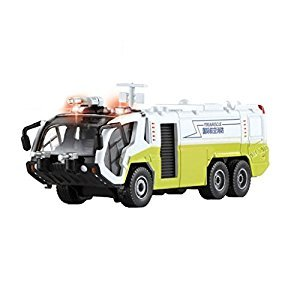 Drasawee 1:50 Kids Scale Alloy Diecast Model Water Cannon Fire Truck Toy Green