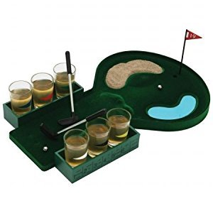 Maxam SPDGOLF B and F Golf Shot Glass Drinking Game Set