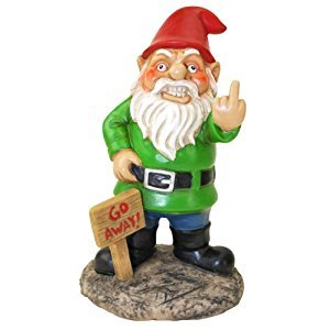 BigMouth Inc. Go Away Garden Gnome
