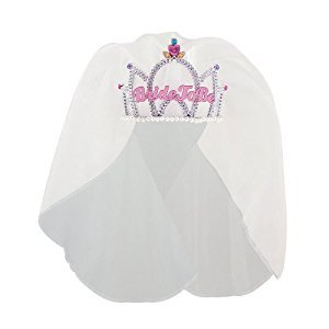 Bride to Be Bachelorette Tiara with Veil