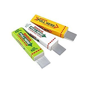 Shot-in Electric Shock Joke Chewing Gum Shocking Toy Gift Gadget Prank Trick Gag Funny by Shot-in