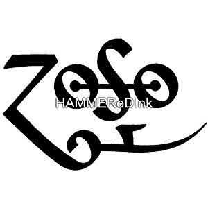 Zoso Decal Led Zeppelin Die Cut Vinyl Car Decal Window Sticker