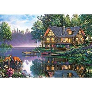 Buffalo Games Kim Norlien Cabin Fever, 2000-Piece Jigsaw Puzzle