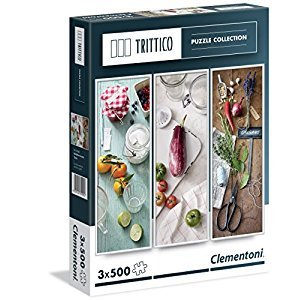Clementoni 3 x 500-Piece Puzzles, Flavors of the Mediterranean