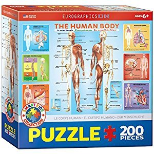 Eurographics Human Body Jigsaw Puzzle (200-Piece)