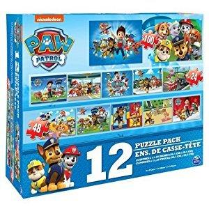 Paw Patrol 12 Puzzle Pack - Nickelodeon