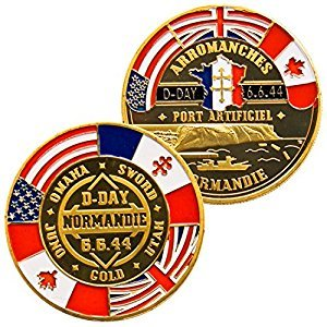 Art Crafter 1-Pack WWII D-DAY Challenge Coin To Celebrate DDay Normandy