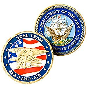 Art Crafter U.S. Navy SEAL TEAM Military Challenge Coin, Pack of 1