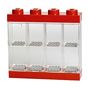 Lego Small Minifigure Display Case - Red Top (Dispatched From UK)