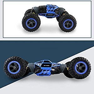 Remote Control Off-Road Vehicle 1:16 Four-Wheel Drive Climbing Car Remote Control Deformation Twisted Car 2.4Ghz RC Remote Control Car/Off-Road Vehicle Off-Road Vehicle Toy Remote Control Rock Crawler,Blue