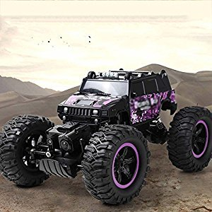 Remote Controlled Land Cruiser High Speed Racing Rock Climbing RC RC Stunt Deserted Truck 2.4G Racing Monster Truck 4 Wheel Independent Hanging Radio Control Car Children Adult Toys (Purple)