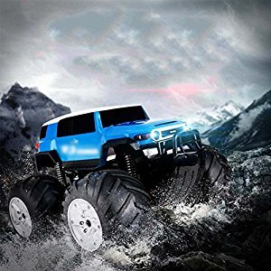 Remote-Controlled Off-Road Vehicle Amphibious Waterproof Stunt Remote Control Car 2.4Ghz 4WD Off-Road Radio Control Truck, Double-Sided 360 Degree Rotation And Flip Water And Land Traffic