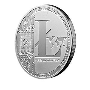 BAQI Litecoin Silver Plated Commemorative Coin Collection Bitcoin Art Collection