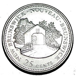 Canada 1992 NB 25 cents New Brunswick UNC Provincial Canadian Quarter