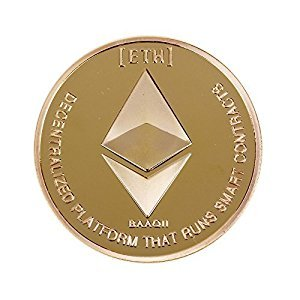 Hidream Gold Ethereum Coin Replica Art Collection Gift Non-currency Copy Coins