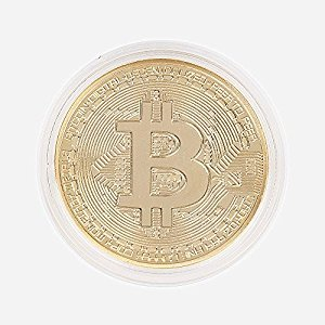Hidream®Gold Plated Bitcoin Coin Collectible Gift BTC Coin Art Collection Physical YG