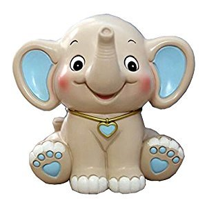 Lovely Animal Piggy Bank Coin Holder Coin Collecting Box Elephant Beige