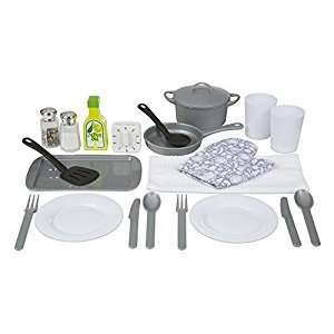 Melissa & Doug 22-Piece Play Kitchen Accessories Set - Utensils, Pot, Pans, and More