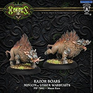 Privateer Press PIP75042 Hordes-Minion: Razor Boars Model Kit