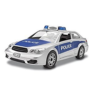Revell Junior Police Car Model Kit, Silver