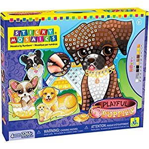 The Orb Factory Sticky Mosaics Playful Puppies Craft Kit