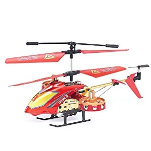 GPTOYS Remote Control Helicopter with Gyro - 4 Channel Indoor Flying RC Heli - Best Birthday/ Christmas Gift for Boys and Girls,G620 RC Toy Helicopter Red