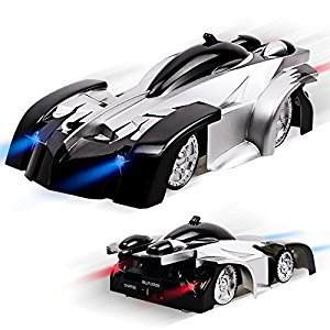 Remote Control Cars, Gravity Defying Wall Climbing RC Car, Kids Toys Gifts for Girl and Boy Rolytoy LED Lights Stunt Racer Vehicle