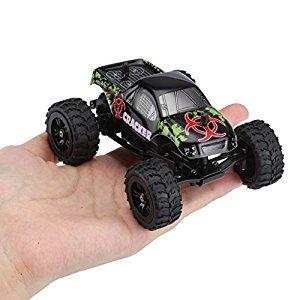 Virhuck 1:32 scale 2WD Mini RC Car, 2.4GHz 4CH Off-road Vehicle Electric Crawler Car High Speed Vehicle for Kids