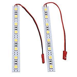 BQLZR 12x1.2cm Board 12V Night Light JST Connect LED Light Strip with White Light for Mini Multi-Rotor Quadcopter Pack of 2