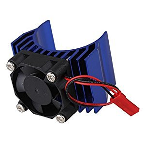 Mxfans N10098 Dark Blue Aluminum Alloy plastic Motor heatsink with Fan for RC 1:10 Car 540 550 Motor Heat sink