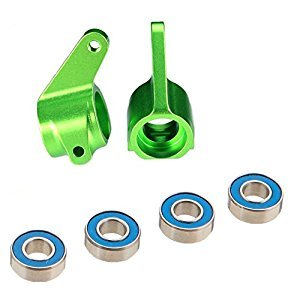 Traxxas 3636G Steering Blocks Green Aluminum, Traxxas 1/10 2WD Vehicles