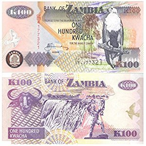 100 Kwacha Zambia Banknote for collectors / 1992-2009 design / UNC Condition / Perfect quality