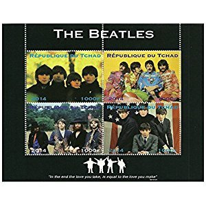 Beatles stamps in sheet of 4 issued in 2014 Chad / Mint and unmounted