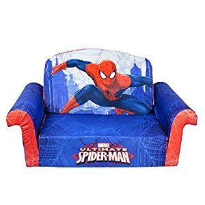 Marshmallow Furniture, Children's 2 in 1 Flip Open Foam Sofa, Marvel Spiderman, by Spin Master