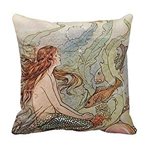Comi Vintage Pretty Mermaid Home Decor Pillow Case Cushion Cover 18