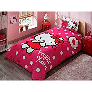 Disney Hello Kitty Kid's Twin Duvet/Quilt Cover Set Single / Twin Size Kids Bedding