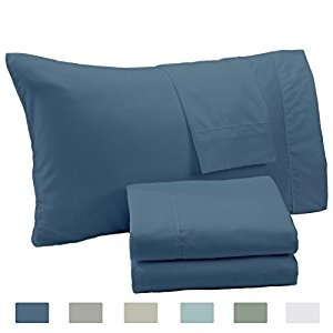 Extra Soft Microfiber Sheet Set. Smooth, Comfortable, Cozy All-Season Bed Sheets. Katherine Collection By Great Bay Home Brand. (Full, Captains Blue)