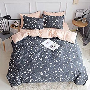 Lightweight Printed Bedding Duvet Cover Set Twin Size,Brushed Microfiber,Blue Grey 3-Pieces Reversible Comforter Quilt Covers,Children Soft Cotton Kids Bedding Set Twin,Style03