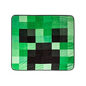 MInecraft Mojang Creeper Graphic Super Plush Fleece Blanket Throw