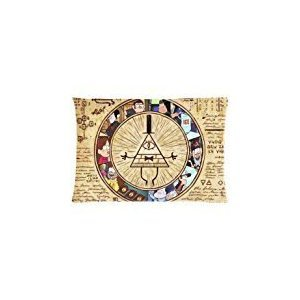Unique Gravity Falls Custom Zippered Pillow Cases Soft And Confortable 20x30 (Twin sides)