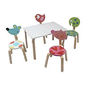 Children's Table and Chair Set (4 Chair Set)