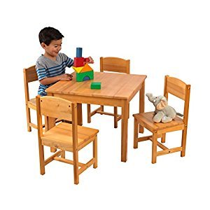 KidKraft Farmhouse Table and Chair Set - Natural