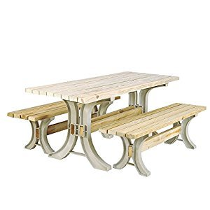 Generic Gard Camping Table Bench BBQ icnic Set Ou Yard Deck rd Patio Furniture Kit ic Set Outdo Garden Picnic rniture Set Outdoor rnitur