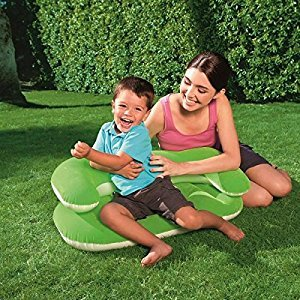 Green Kiddie Lounger Inflatable child outdoor chair Beach Chair