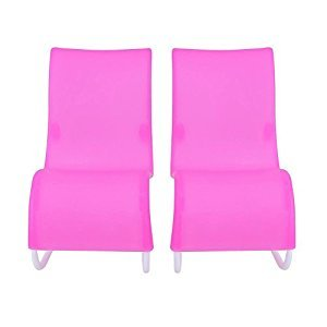 Kids Toy,amazingdeal Rocking Beach Lounge Chair Livingroom Gardan Furniture for Doll 2pcs
