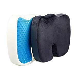 Memory Foam Seat Cushion, Non-Slip Memory Cotton Seat Cushion for Office Foam Car Seat Relief from Sitting Back Pain, Orthopedic, Coccyx,plus Improve Posture 【 Slow Rebound Memory Cotton 】 - INPAY